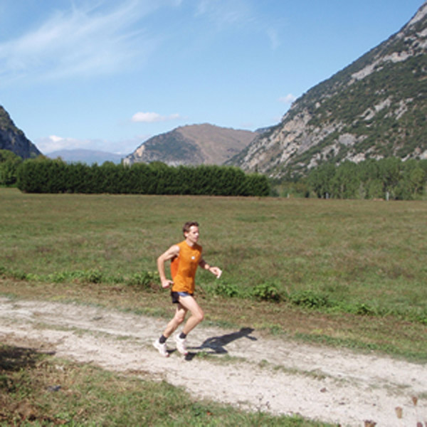 Trail running near Bouan